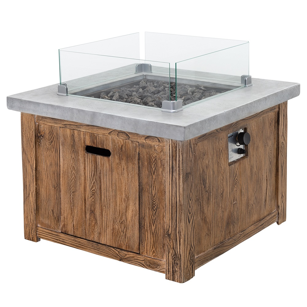 Helm Square Gas Fire Table
