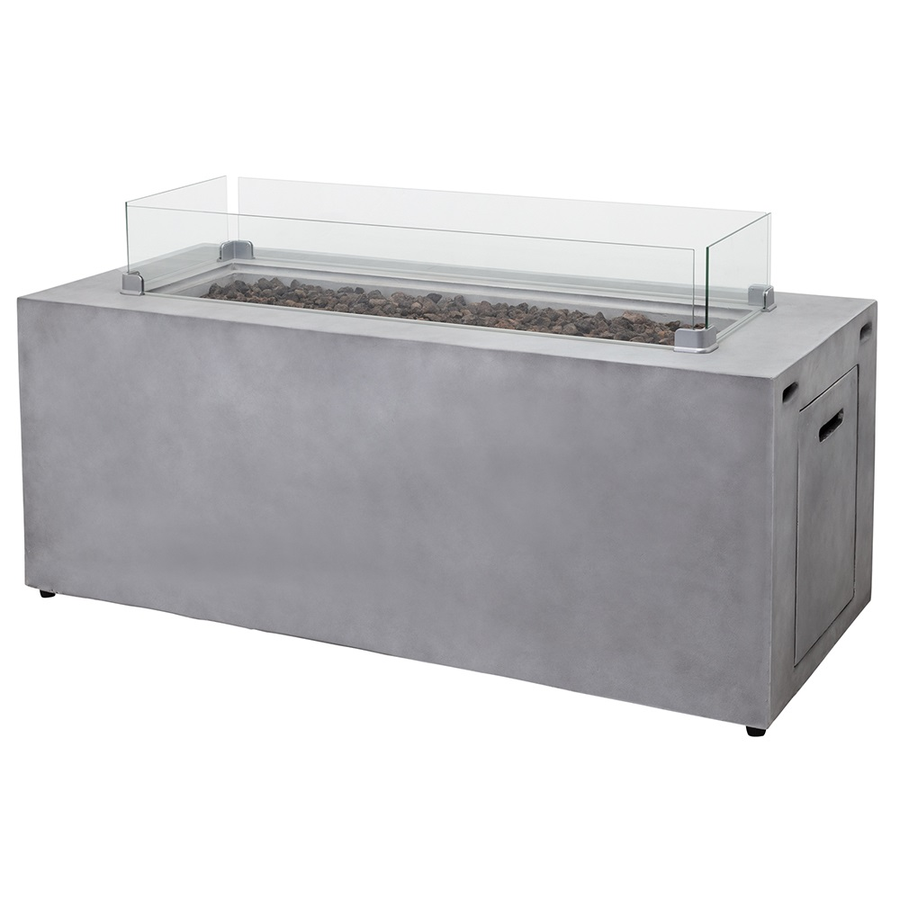 Cinder Rectangular Gas Fire Table
