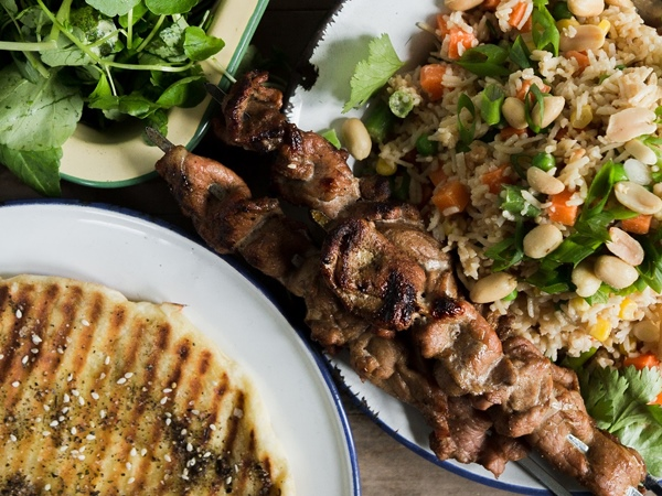 Satay Rice Salad