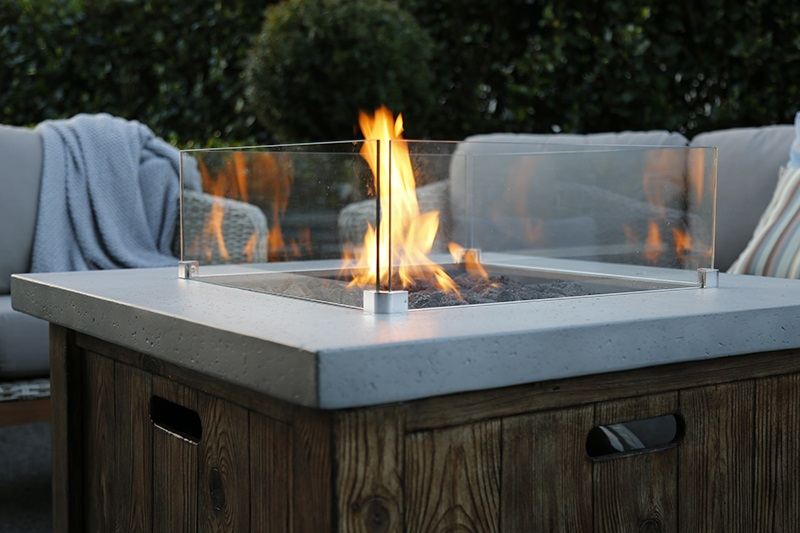 Gas Fire Pits provide ambience.